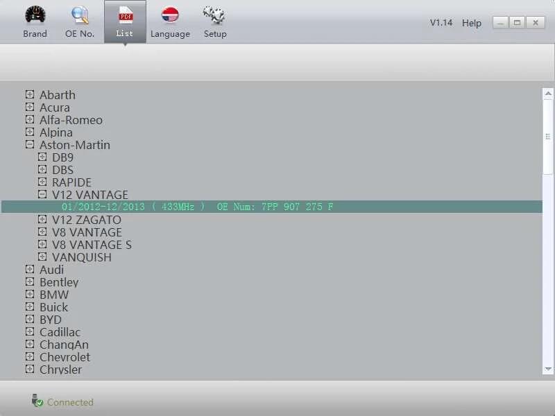 胎压传感器OE替换件 一款PC编程工具6